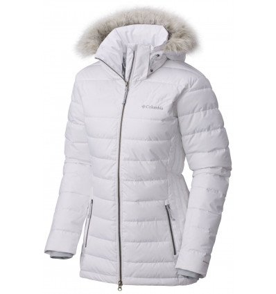 Veste de ski Columbia Ponderay Jacket (white) femme