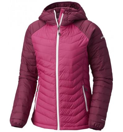 Doudoune Columbia Powder Lite Hooded Jacket (Deep blush, dark raspeberry) femme
