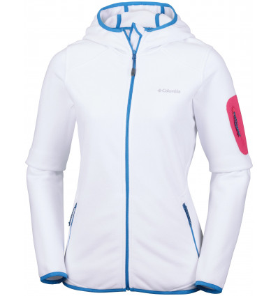 Veste polaire Columbia Outdoor Novelty Hooded Fleece (white) femme