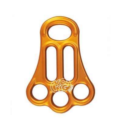 Tris Kong Plaque A Triple Ancrage Full Orange
