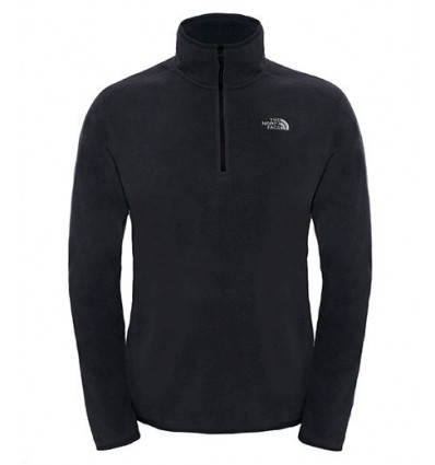 Pull Over M 100 Glacier 1/4 Zp (Black) - The North Face homme
