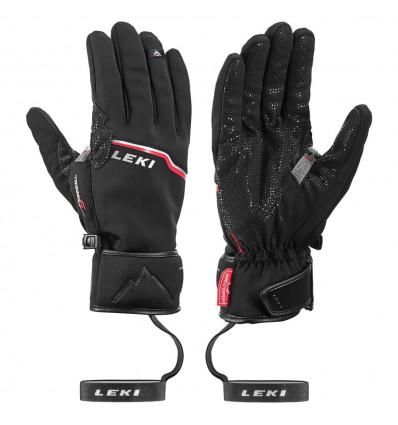 Gants Leki Glove Tour Precision Plus V (Black-chrome-red)