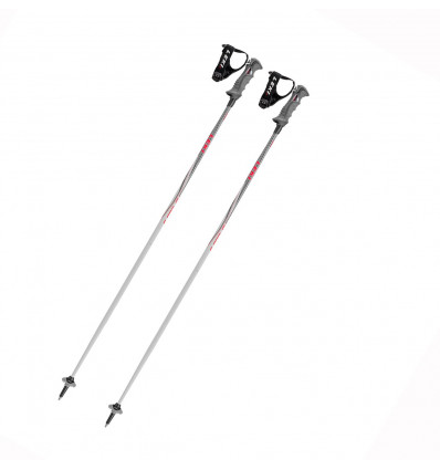 Bâtons de ski Leki Speed S Airfoil (Bright Grey-black-white-red)