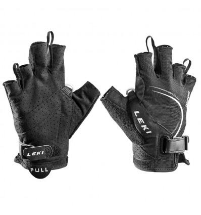 Gants marche nordique Leki Glove Nordic Lite Shark Short (Black-white)