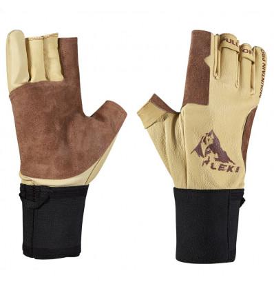 Gants trekking Leki Glove Ferrata Pro (Brown)