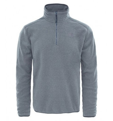 Pull Over M 100 Glacier 1/4 Zp (monument grey) - The North Face homme