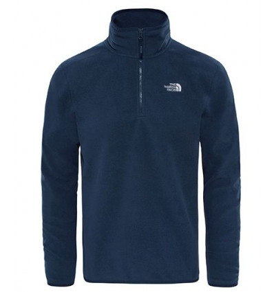 Pull Over M 100 Glacier 1/4 Zp Urban navy - The North Face homme