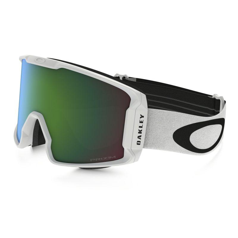 Masque de Ski LINE MINER™ PRIZM™ Oakley (Matte white- Prizm goggle jade irid)