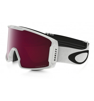 Masque de Ski LINE MINER™ PRIZM™ Oakley (Matte white- Prizm goggle rose)