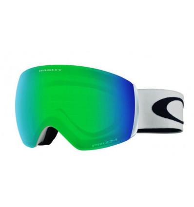Masque de Ski FLIGHT DECK™ XM PRIZM™ Oakley (Matte white / Prizm snow jade iridium)