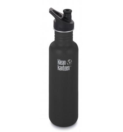 Klean Kanteen® Classic Vacuum (w/Sport Cap ) Black Matte 27oz / 0.8l