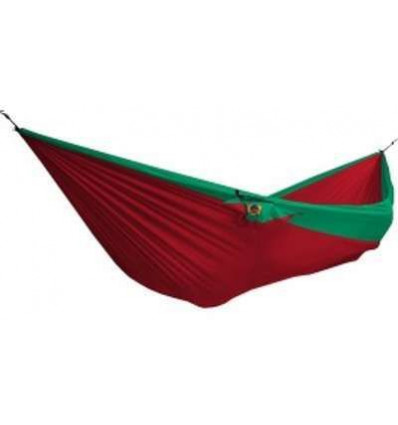 Hamac double bicolore Ticket To the Moon (Red / Green)