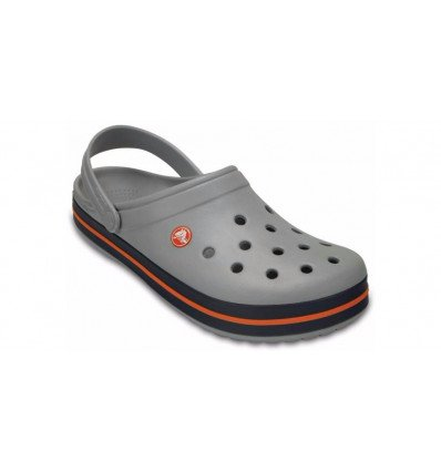Sabots Crocs Crocband™ Clog (Light Grey/navy)