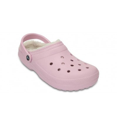 Crocs Classic Fuzz Lined Clog (Ballerina Pink/oatmeal)