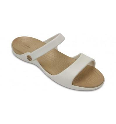 Crocs Women's Cleo V Sandals (Oyster/gold)