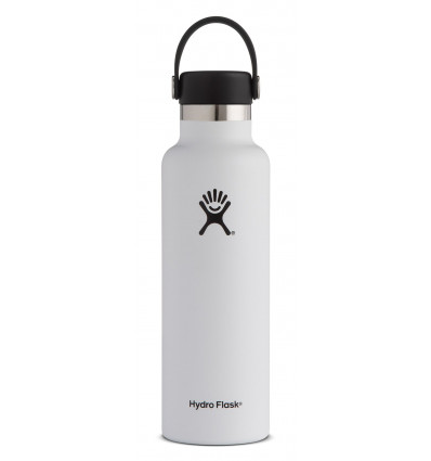 Gourde 21 oz Standard Mouth Hydro Flask (White)