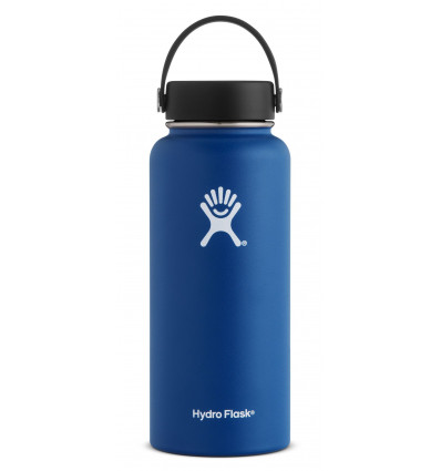 Gourde 32 oz Wide Mouth Hydro Flask (Cobalt)