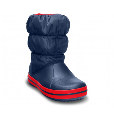Crocs Kids' Winter Puff Boot (Navy/red)