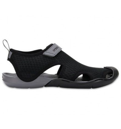 Crocs Women's Swiftwater Mesh Sandals (Black)