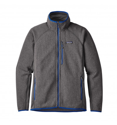 M's Performance Better Sweater Jkt Patagonia (forge Grey W/viking Blue)