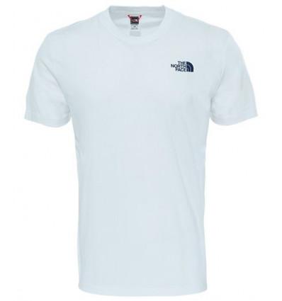 T Shirt Ss Redbox Cel Tee Tnf Wh/ur Navy - The North Face