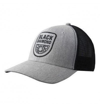 Casquette Black Diamond Trucker (Heathered aluminium noir)