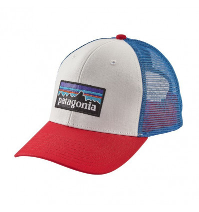 P-6 Logo Trucker Hat Patagonia (White/fire/andes blue)