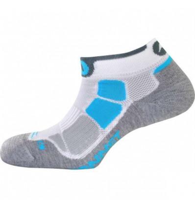 Chaussettes Running - MONNET RUN AIR (Blanc Bleu)