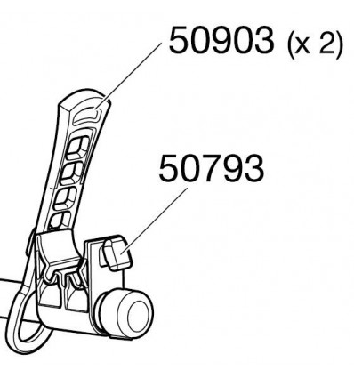 Support d'Attache-Cadre THULE pour Porte-Vélos HANGON XPRESS CLIPON 50793