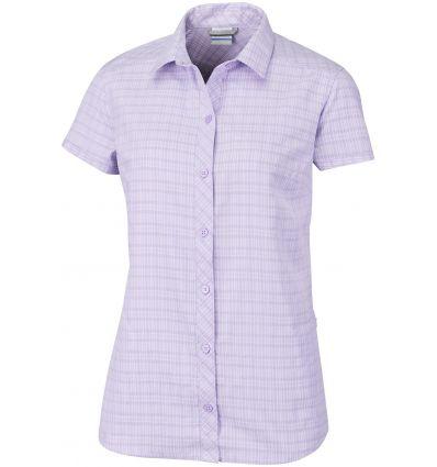 Chemise manches courtes Surviv-elle III Columbia Grande taille (Soft violet Plaid) femme