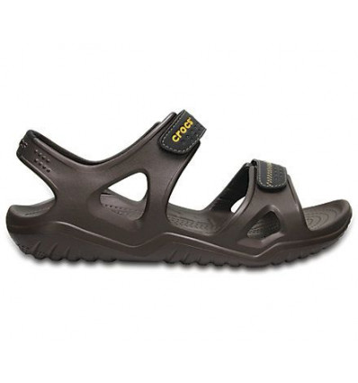 Crocs Men's Swiftwater River Sandals (Espresso/black)