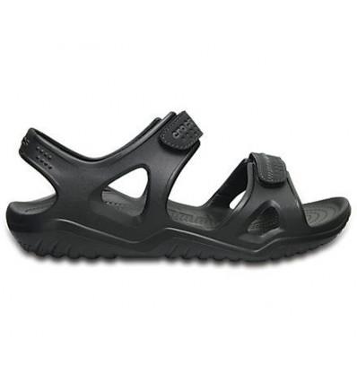 Crocs Men's Swiftwater River Sandals (Black/black)