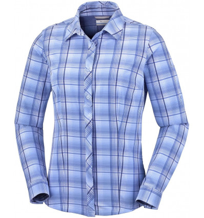 Chemise manches longues Saturday Trail Stretch Plaid Columbia (Bluebell Plaid) femme