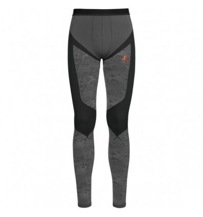 Collant Blackcomb Evolution Warm Odlo (black - Odlo Concrete Grey - Orangeade)