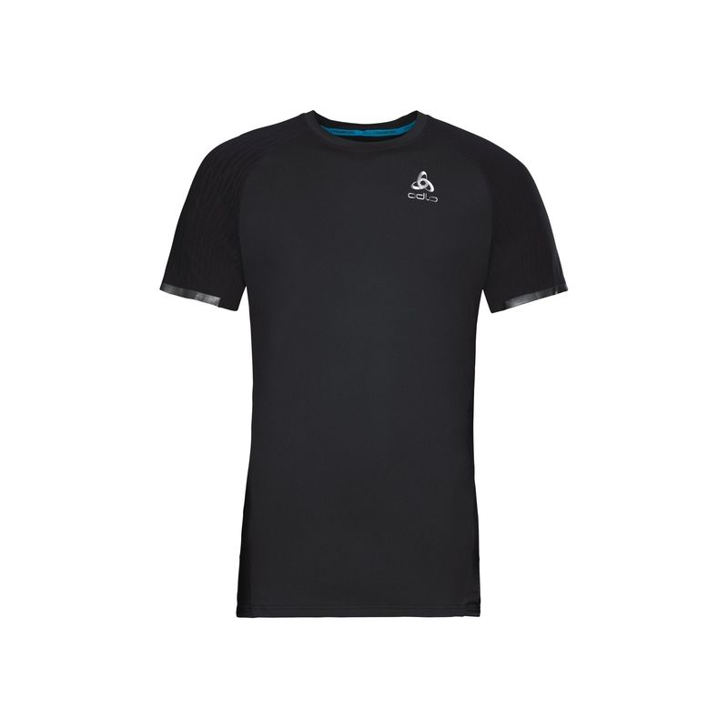 T-shirt Bl Top Crew Neck S/s Zeroweight Ceramicool Odlo (black)