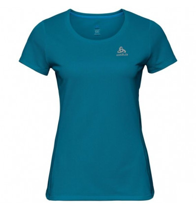 T-shirt Bl Top Crew Neck S/s Sliq Odlo (Crystal teal) femme