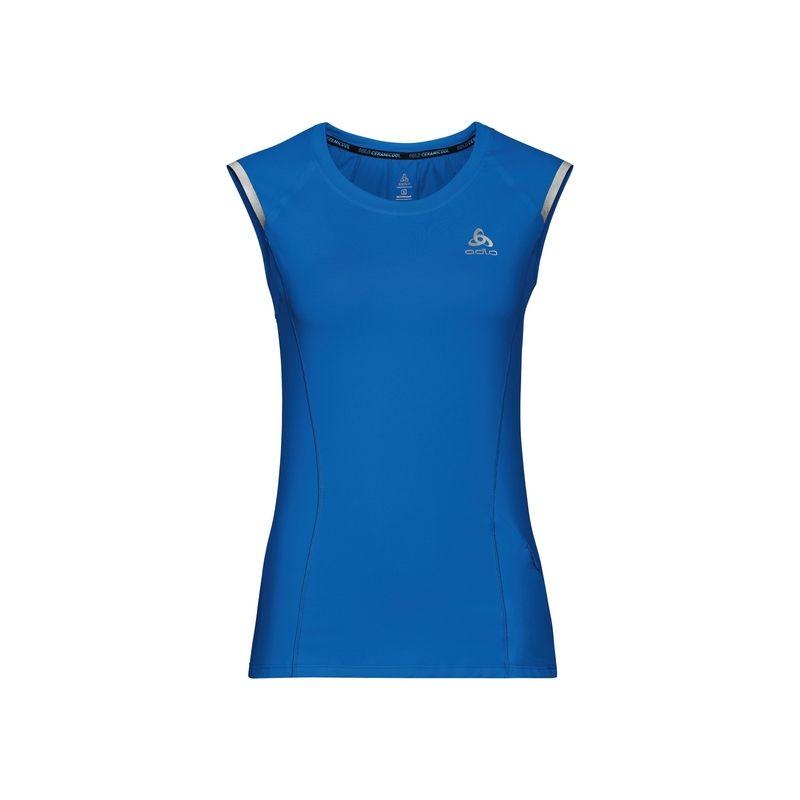 T-shirt Bl Top Crew Neck S/l Zeroweight Ceramicool Odlo (Energy blue) femme