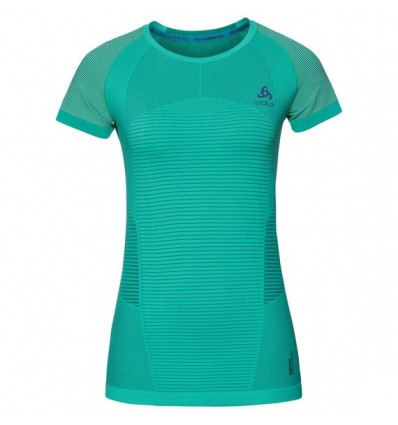 T-shirt Bl Top Crew Neck S/s Ceramicool Motion Odlo (Pool Green) femme