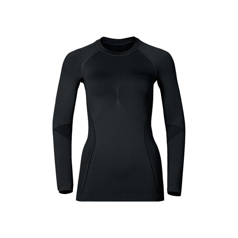 T-Shirt L/s Crew Neck Evolution Warm Odlo (Black - Odlo Graphite Grey) femme