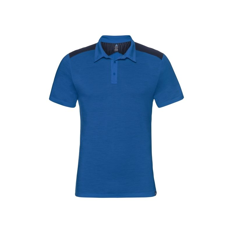 Polo s/s SAIKAI Ceramiwool Odlo (energy blue) homme