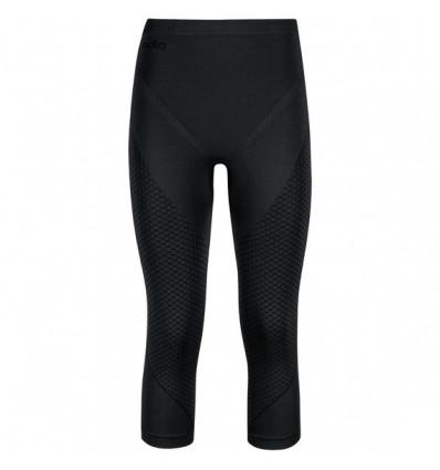 Legging 3/4 EVOLUTION WARM Odlo (black -Odlo graphite grey) Homme