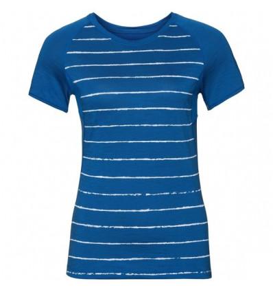T-shirt s/s KOYA CERAMICOOL PRINT Odlo (energy blue-placed print Ss18) femme