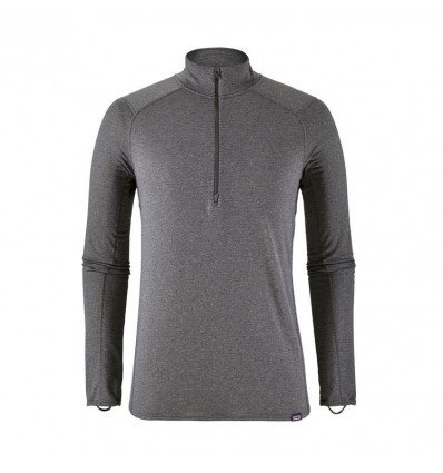 Première couche M's Cap Tw Zip Neck Patagonia (forge Grey - Feather Grey X-dye) homme