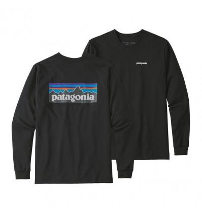 Tee-shirt M's L/s P-6 Logo Responsibili-tee Patagonia (black)