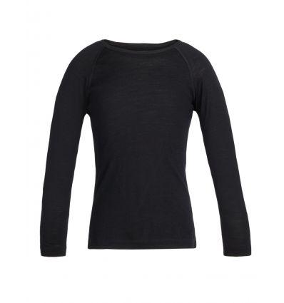 Tee-shirt Kids 200 Oasis Ls Crewe Icebreaker (black)