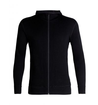 Couche intermédiaire Mens Elemental Ls Zip Hood Icebreaker (black)