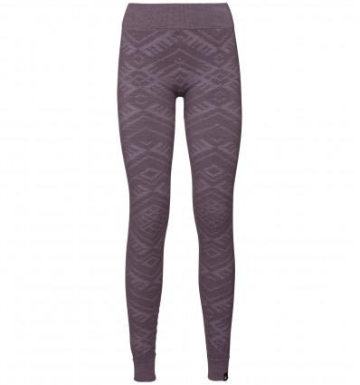 Collant Suw Bottom Pant Natural + Kinship Warm Odlo (Vintage violet Melange) femme