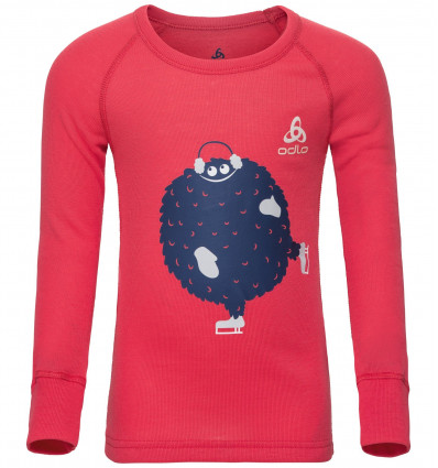 T-shirt manches longues Suw Active Originals Warm Trend Kid Odlo (Hibiscus - placed print SS18)