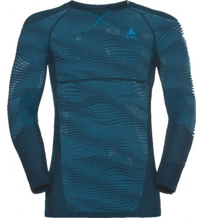 T-shirt manches longues Suw Top Crew Neck L/s Performance Blackcomb Odlo (poseidon - Blue Jewel - Atomic Blue)