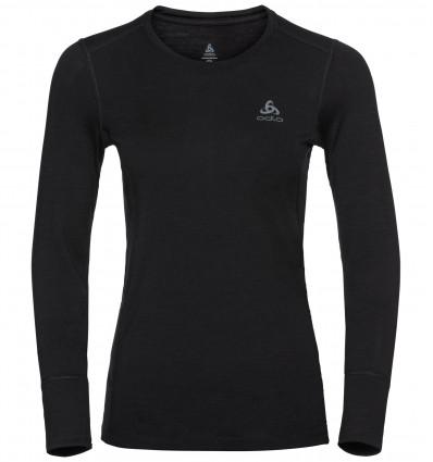 T-shirt technique Odlo Natural 100 % Merino Warm (black) femme